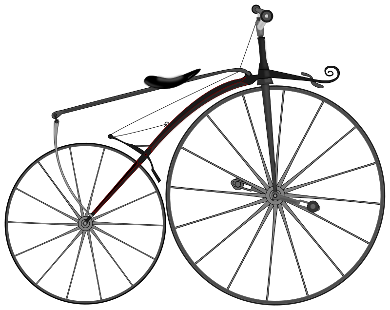 Old bicycle png. Antique drawing at getdrawings