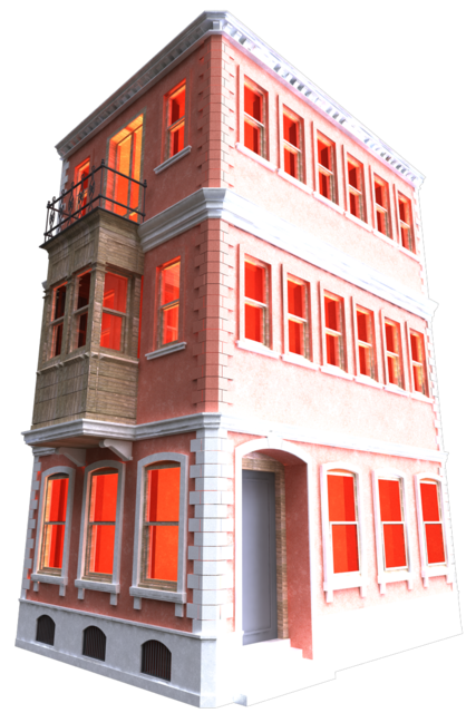 Old building png. D cad model library