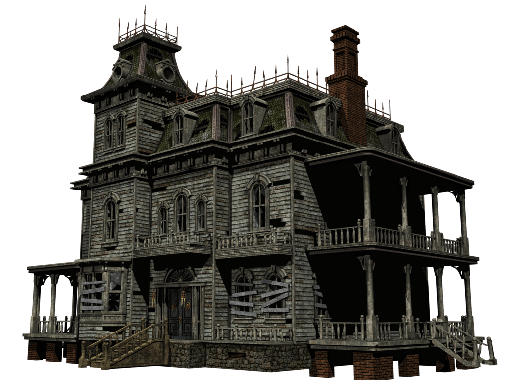 Old building png. Haunted house transparent stickpng