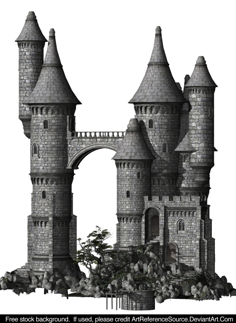 Transparent castle stock. Free png by artreferencesource