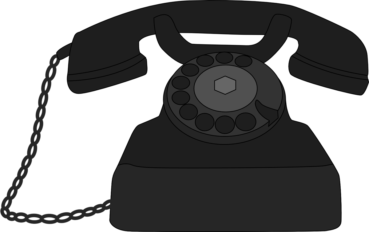 Old clipart. Telephone