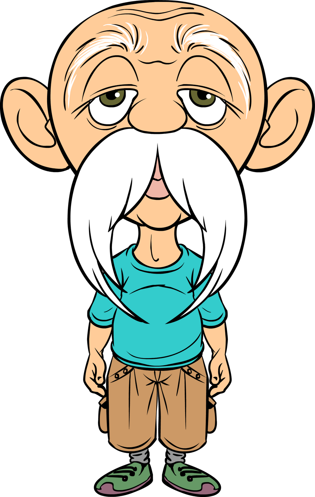 old man cartoon png