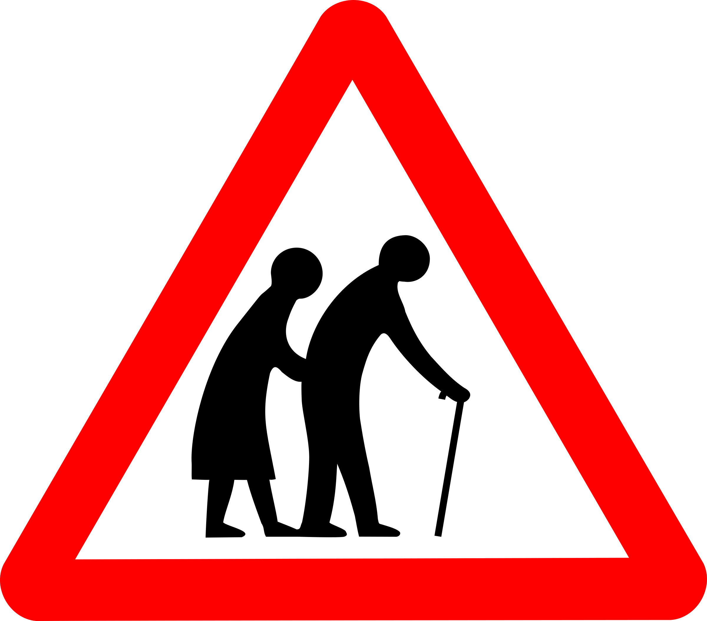 Zootopia traffic sign png. Clipart roadsign old folks