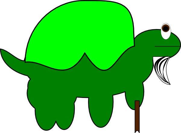 Old clipart old tortoise. With stick clip art