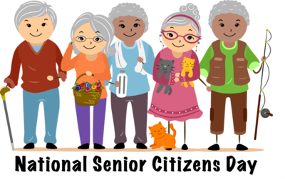 Old clipart senior citizen. National citizens day group