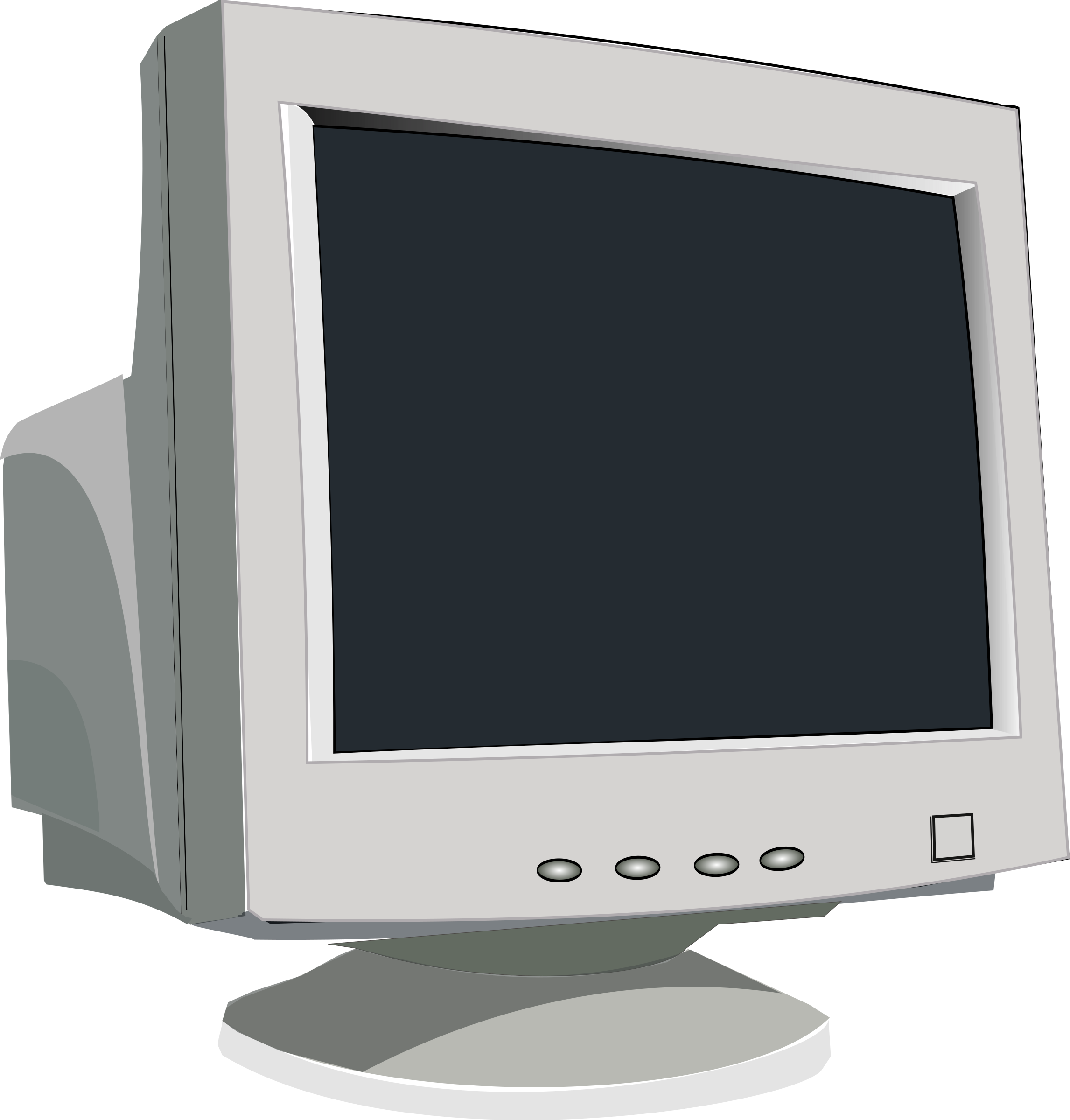 Old computer monitor png. Clipart crt big image