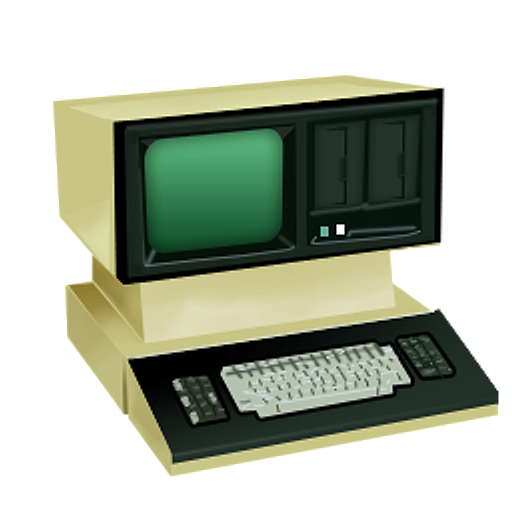 Retro pc png. Old school computer technology