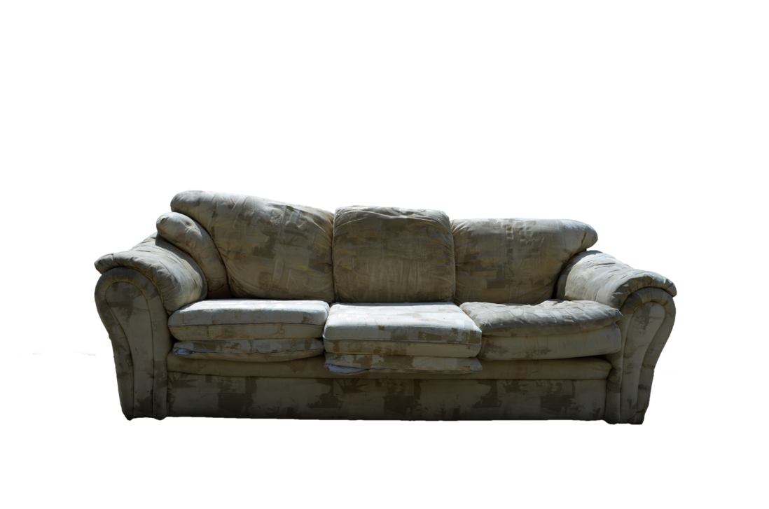 Old couch png. Sofa psd file stock