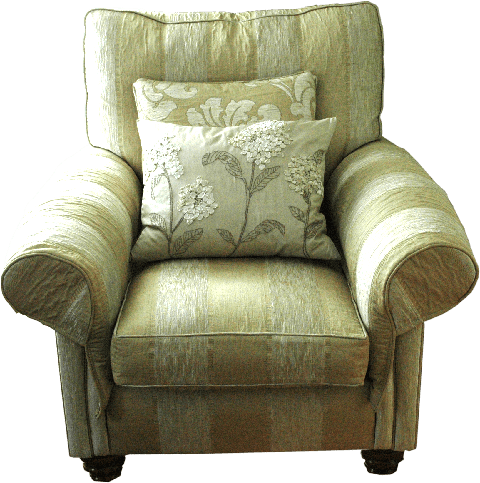 Old couch png. Green armchair transparent stickpng