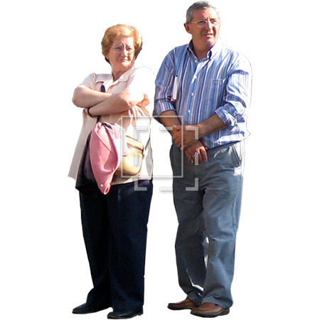 Old couple png. Older flashing gang signs