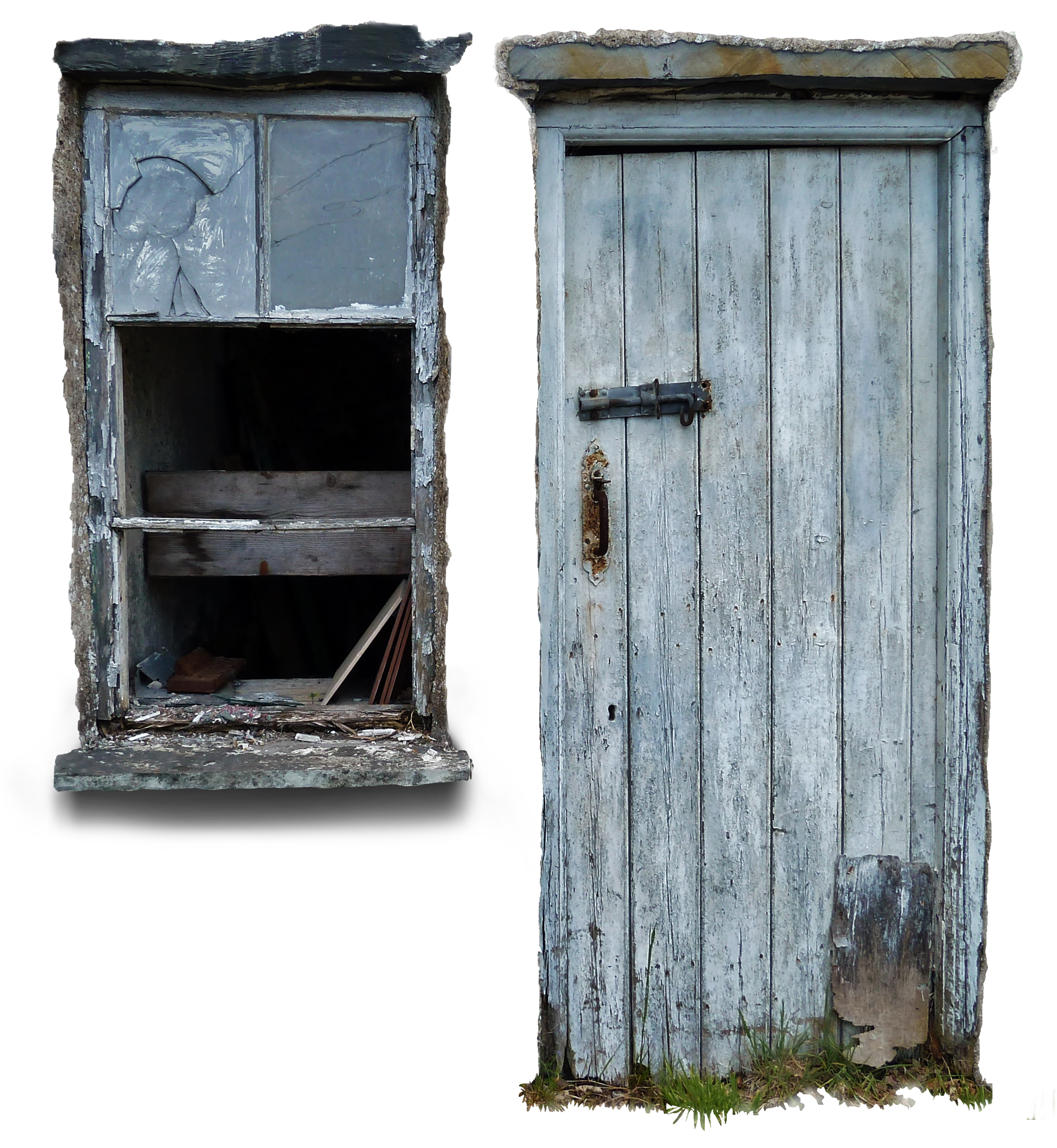 Old door png. With window
