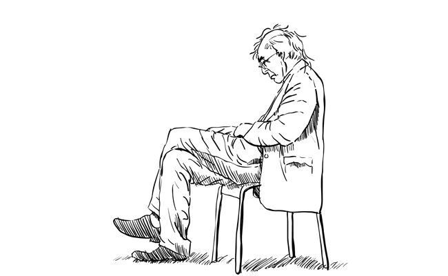 posture drawing sad