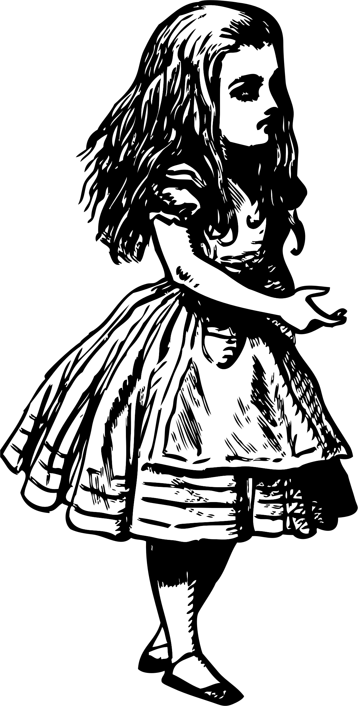 Old drawing alice in wonderland. Clipart big image png