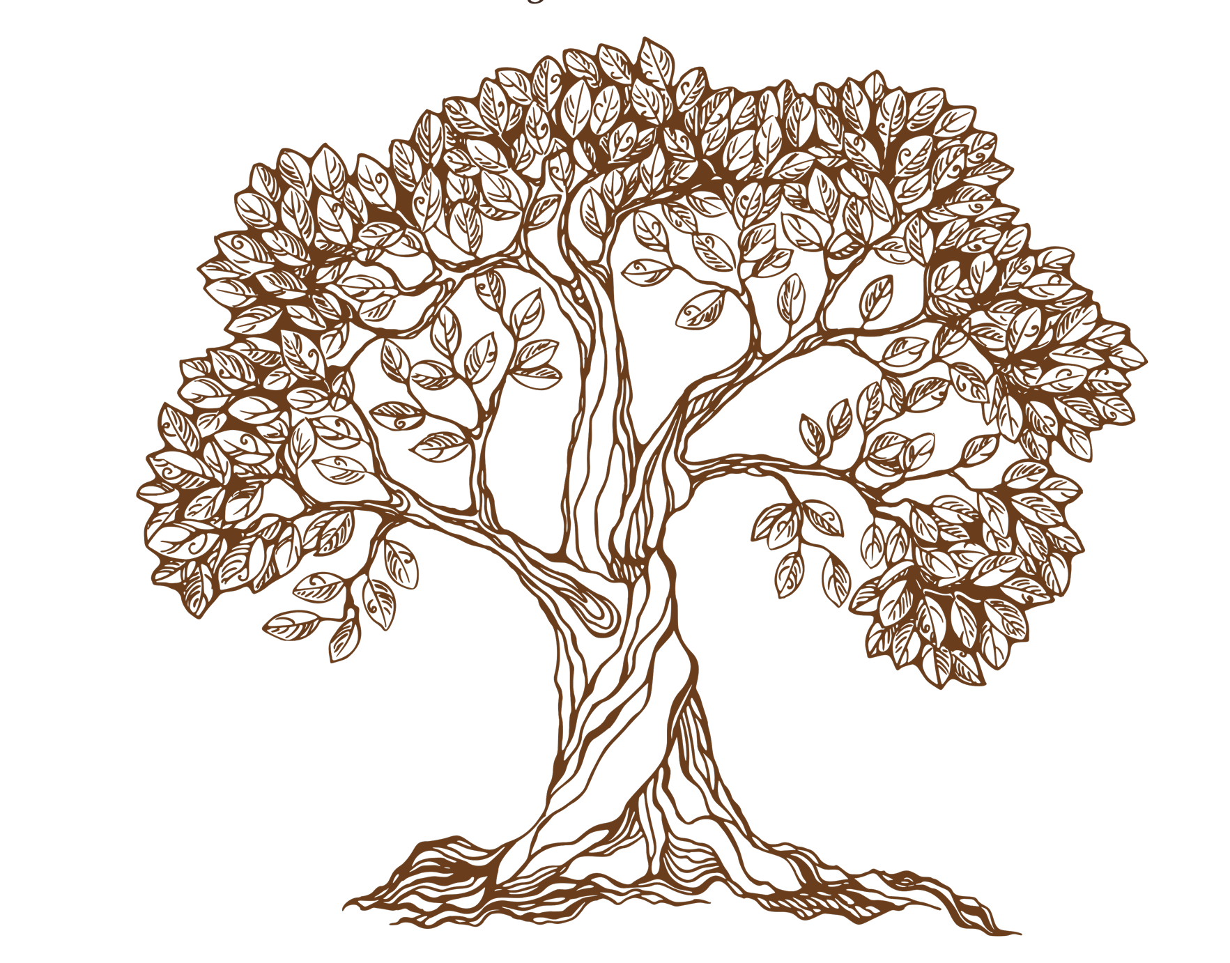 Old drawing apple tree. Royalty free hand drawn