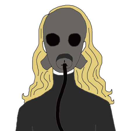 old drawing gas mask