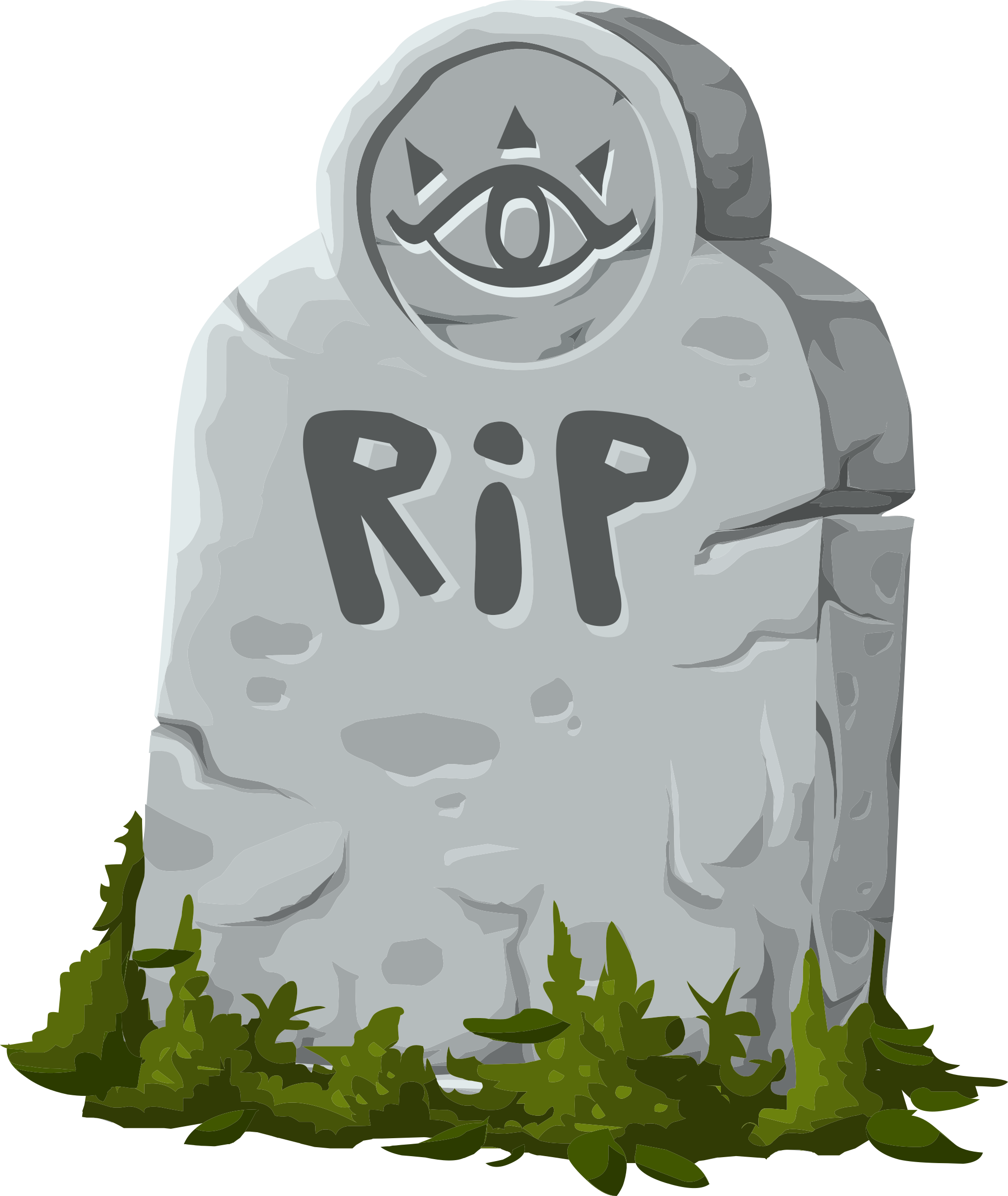Old drawing gravestone. Collection of free graves