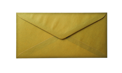 Envelope transparent paper. Turquoise photohdx old yellow