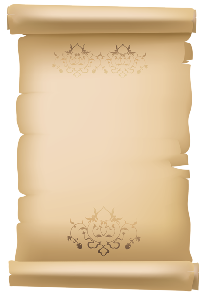 Old letter png. Scrolled decorative paper clipart