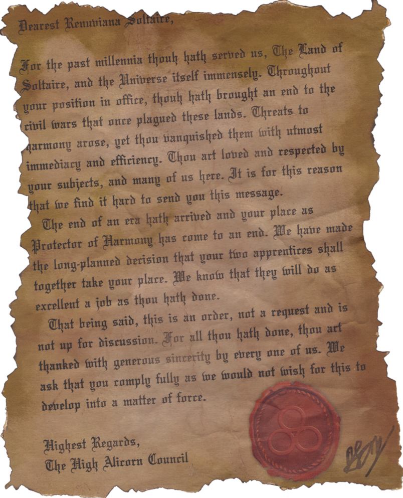 Old letter png. An real by adeviantmember