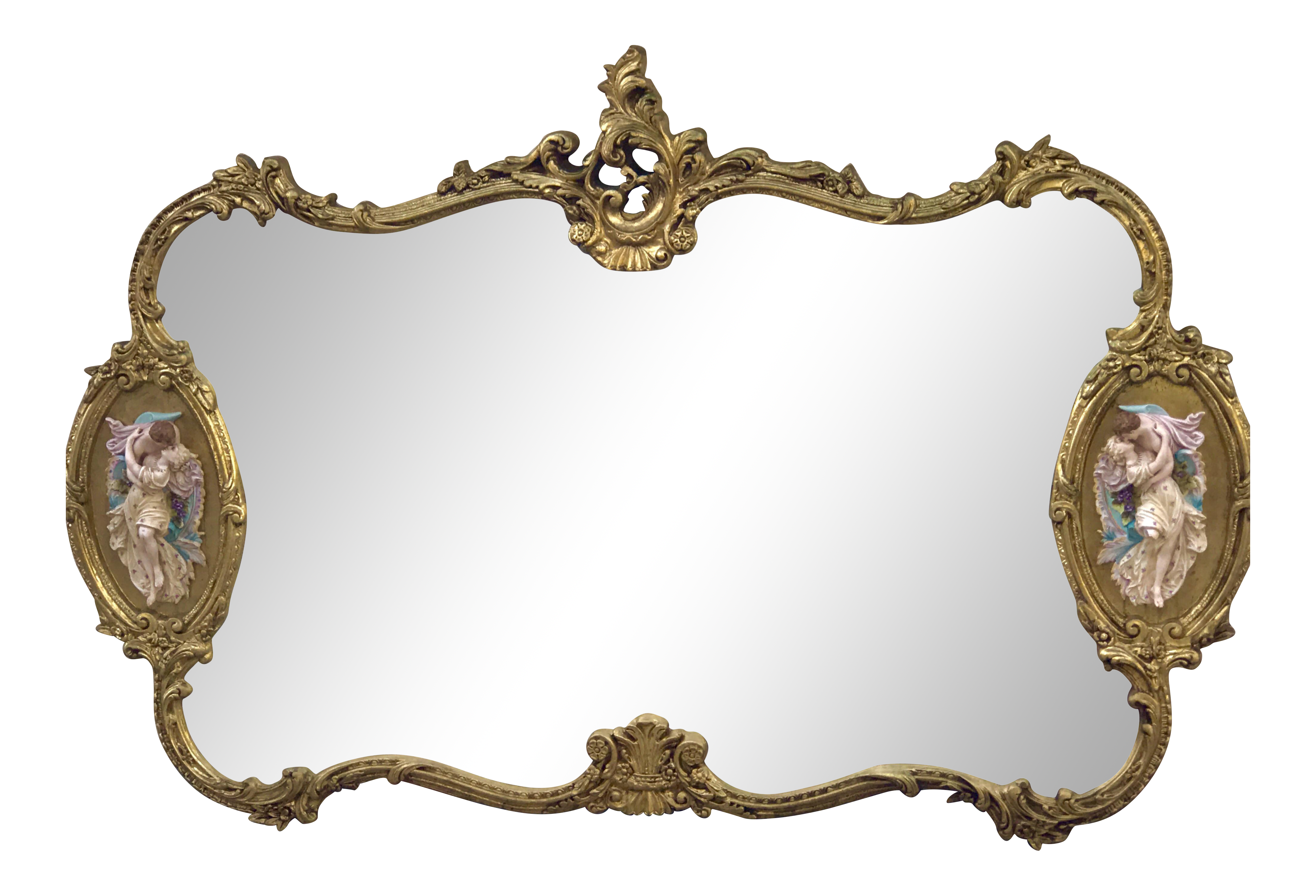 Old mirror png. Antique italian rococo gold