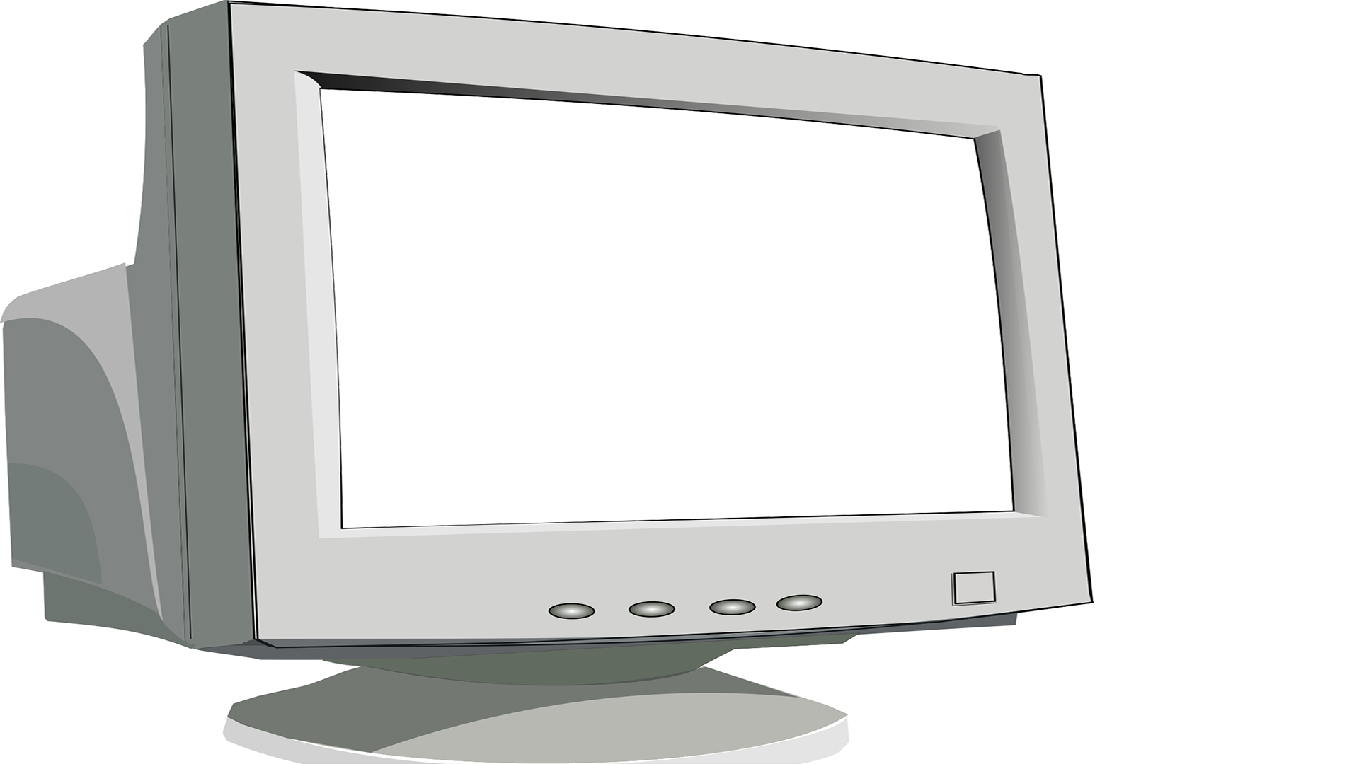 Old monitor png. Crt with knockout tim