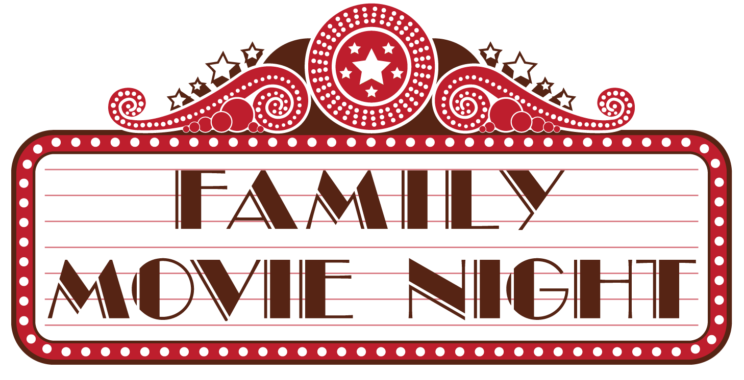 Old movie png billboard. Family nights the great