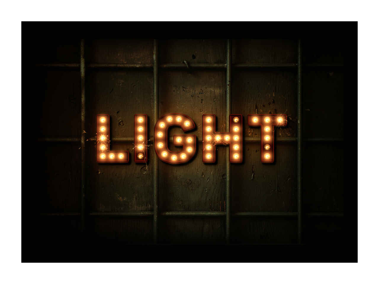 Old movie png billboard lights. How to create a