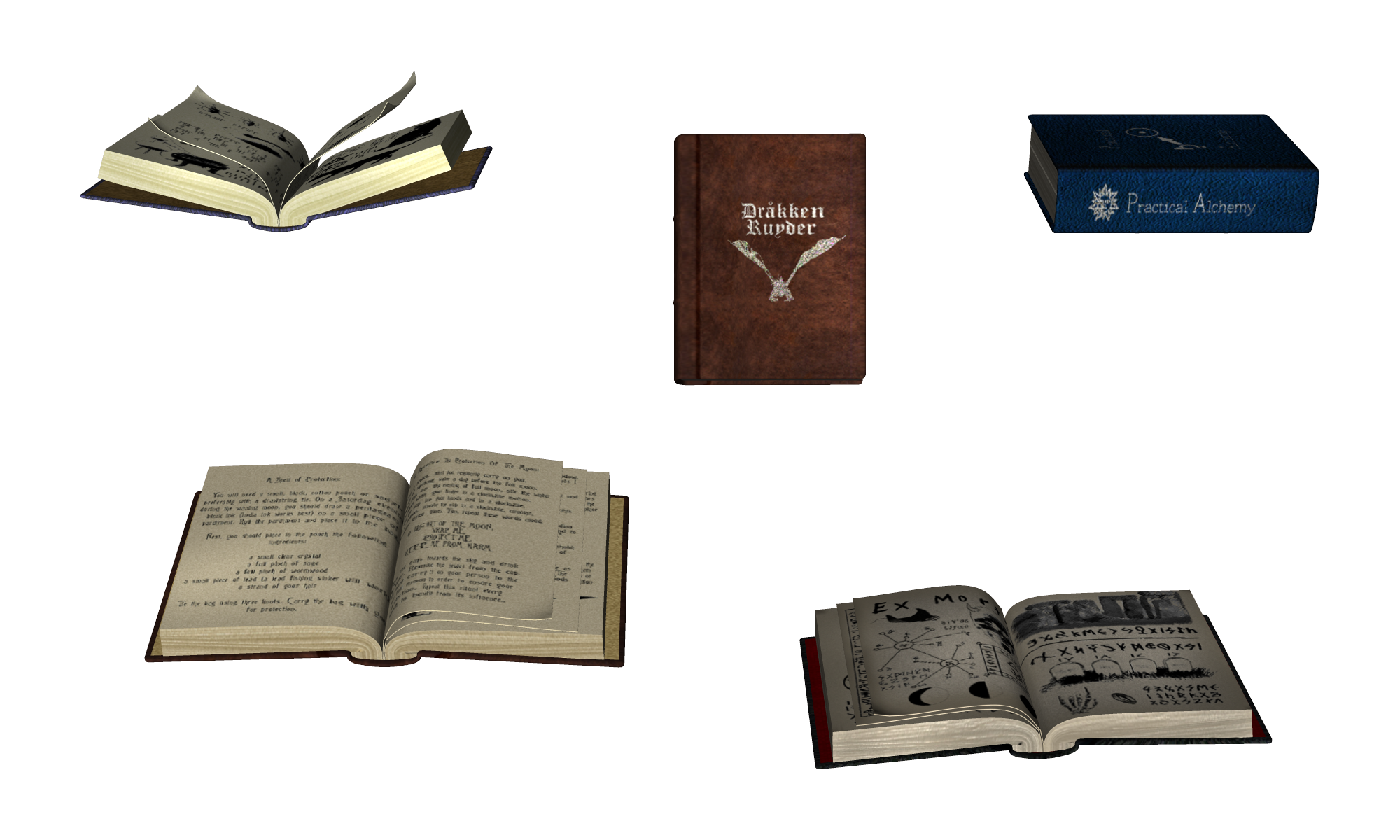 Old open wallet with info png. Book grimoire magic transprent