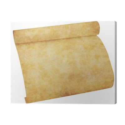 Old parchment paper png. Scroll canvas print pixers