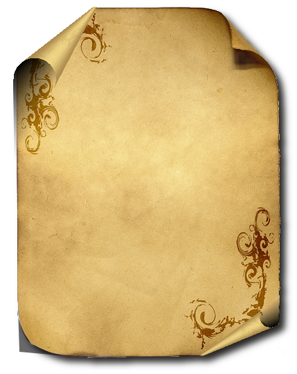 Old parchment paper png. Pergamino banners clipart scrap