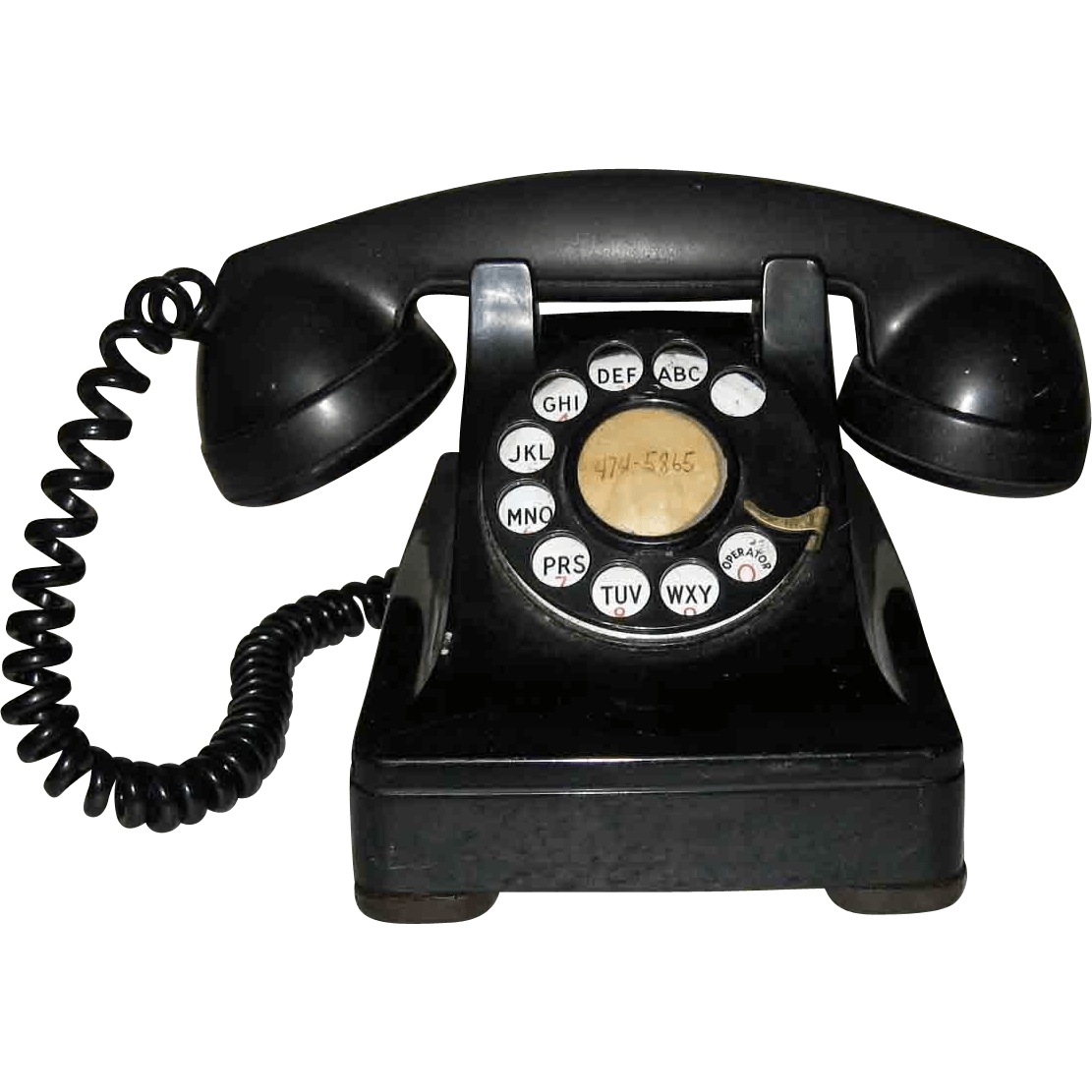 Old phone png. Bakelite transparent stickpng