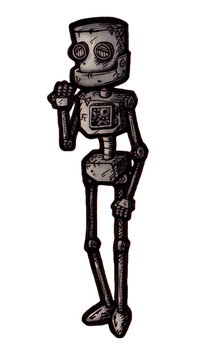 Old robot png. Day inktober by dianinhas