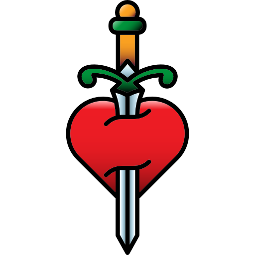Old school png. Vintage heart tattoo hipster
