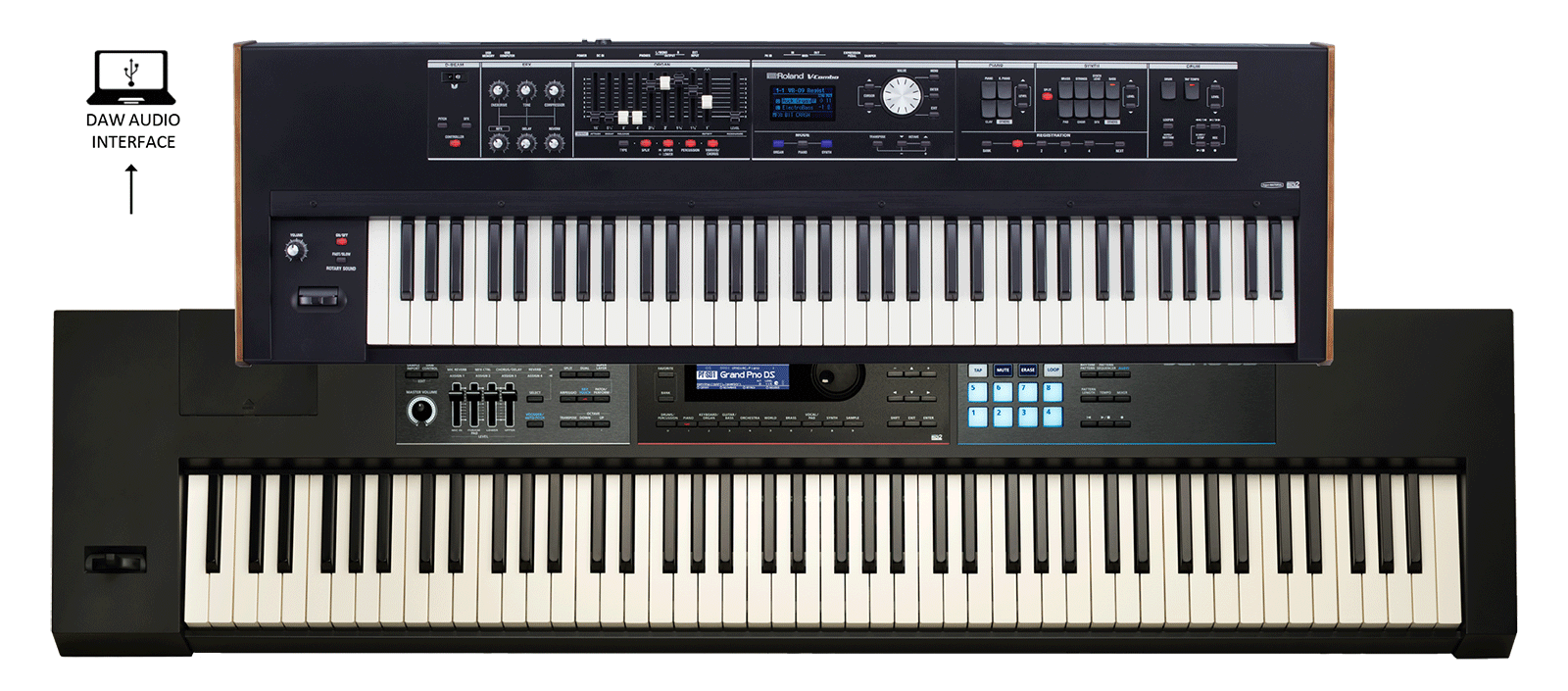 Old set of piano keys art png. Roland keyboard rigs vr