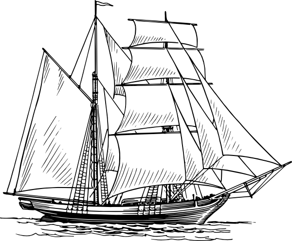 caravel drawing santa maria ship