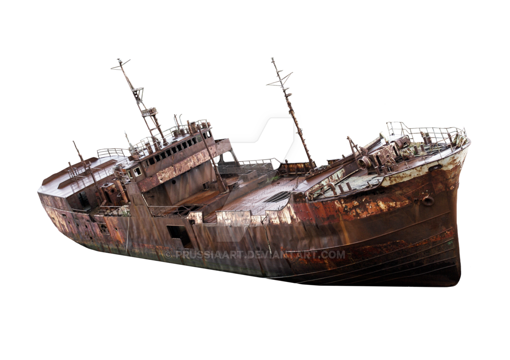 Old ship png. The rusty on a