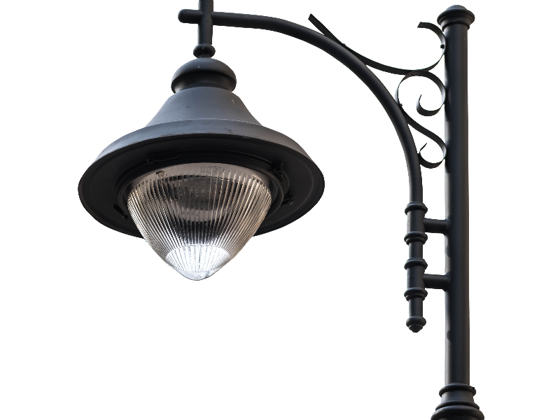 Png street lamp. Image isolated objects textures