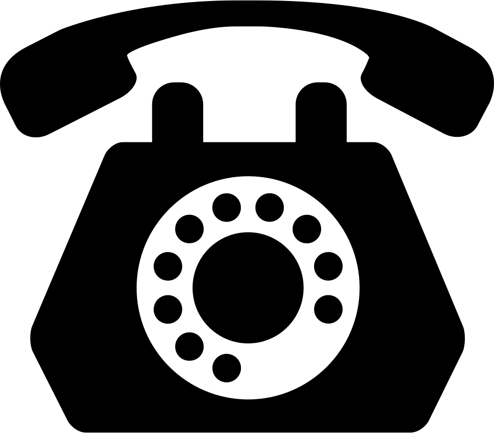 Clip icon old phone. Telephone svg png free