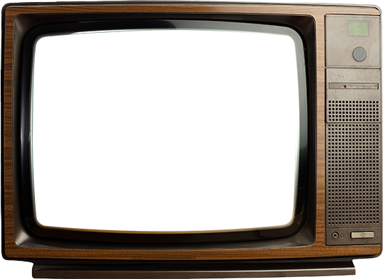 Old television png. Tv