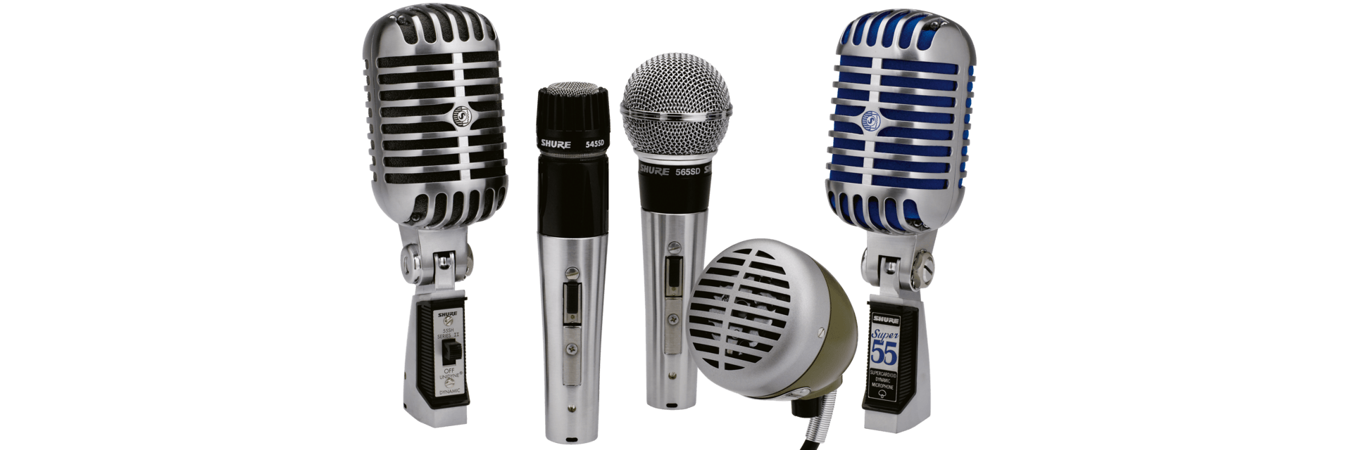 Transparent mic performance. Classic microphones