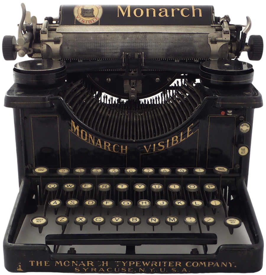 Old typewriter png. Monarch visible no  banner freeuse stock