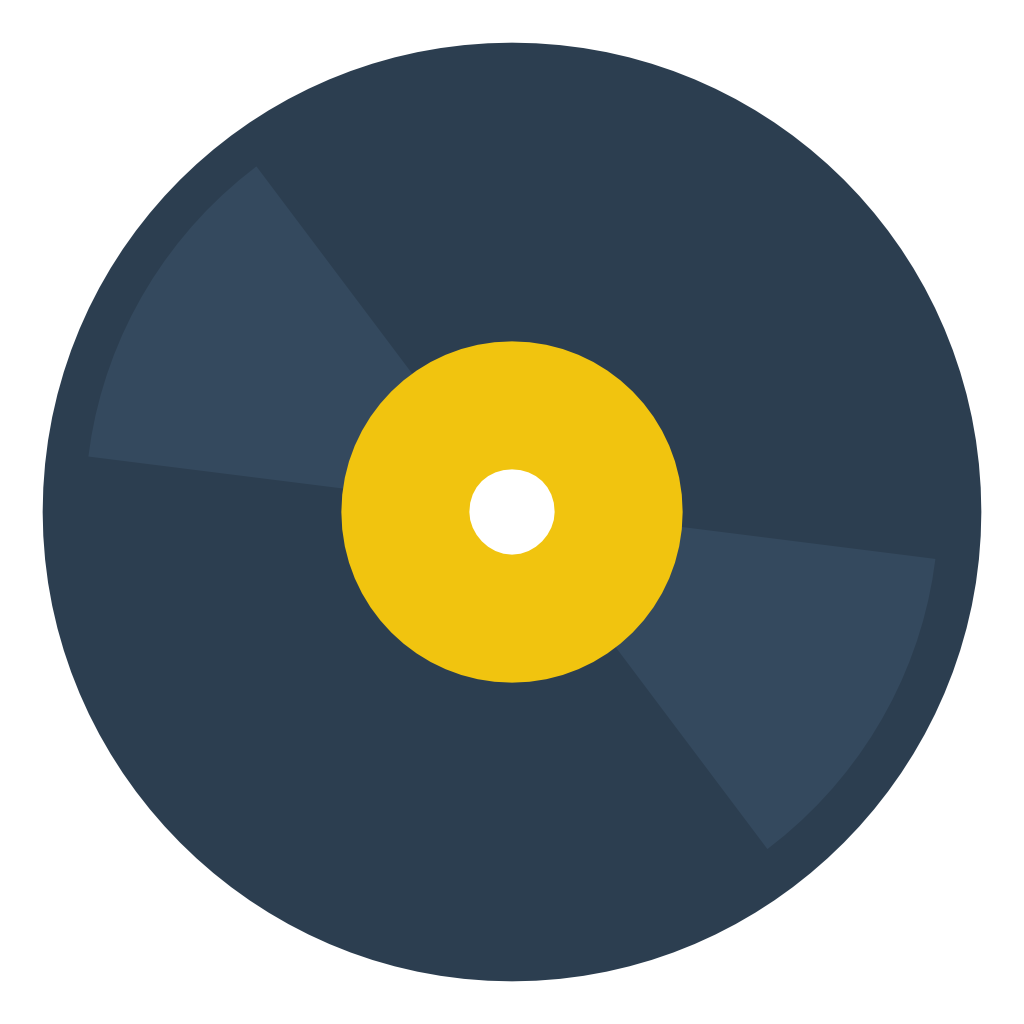Old vinyl png. Disc icon small flat