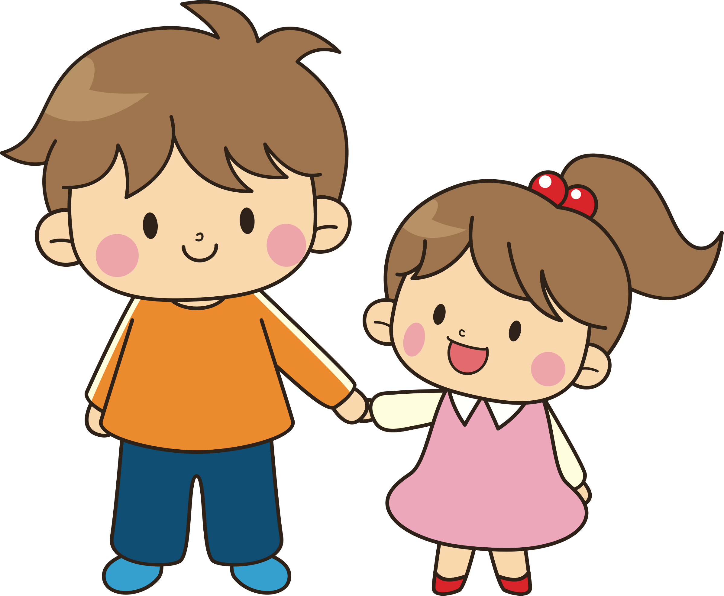 Older child png. Clipart brother younger sister