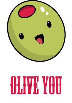 Olive clipart. Valentine you s day