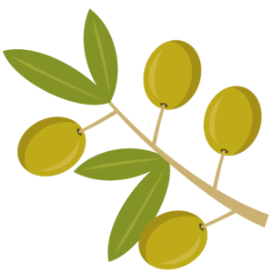 Olive clipart. Flowers trees miss kate