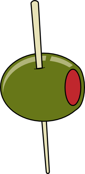Olive clipart. Green on a toothpick