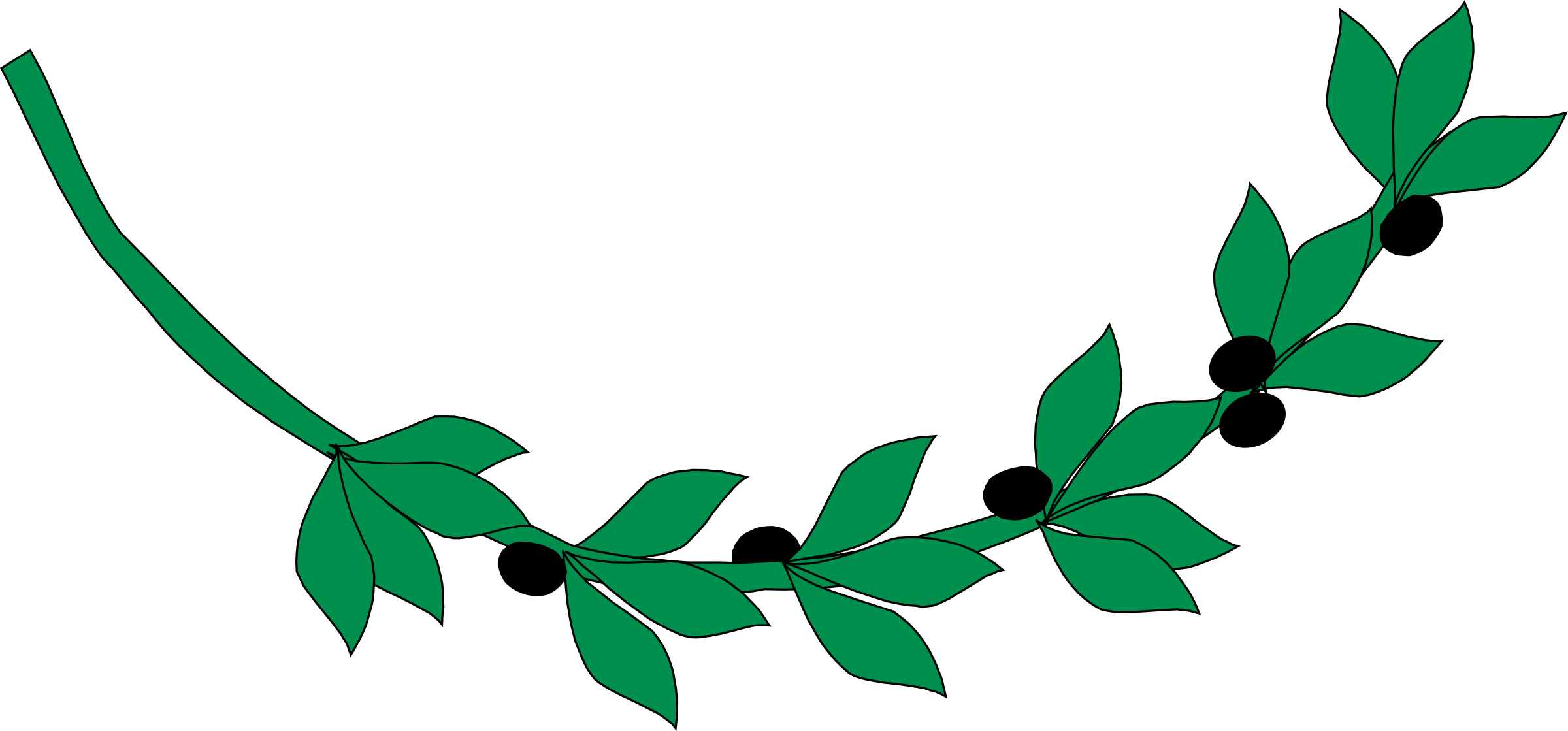 Greenery vector watercolor. Olive branch icons png