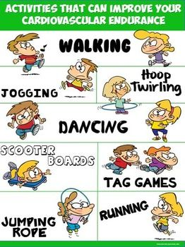 Olympics clipart muscular endurance. Pe poster activities that