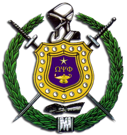 Omega psi phi shield png. The lambda chapter of