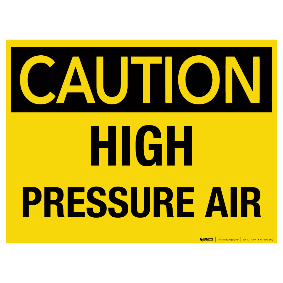 On the air sign png. Caution high pressure wall